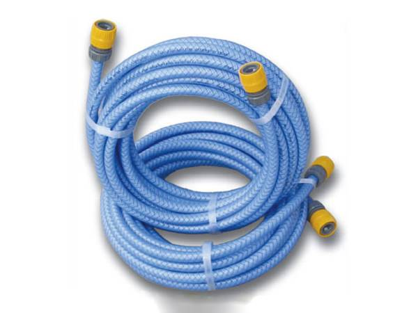 There are two rolls of PVC air hose assemblies with blue color.